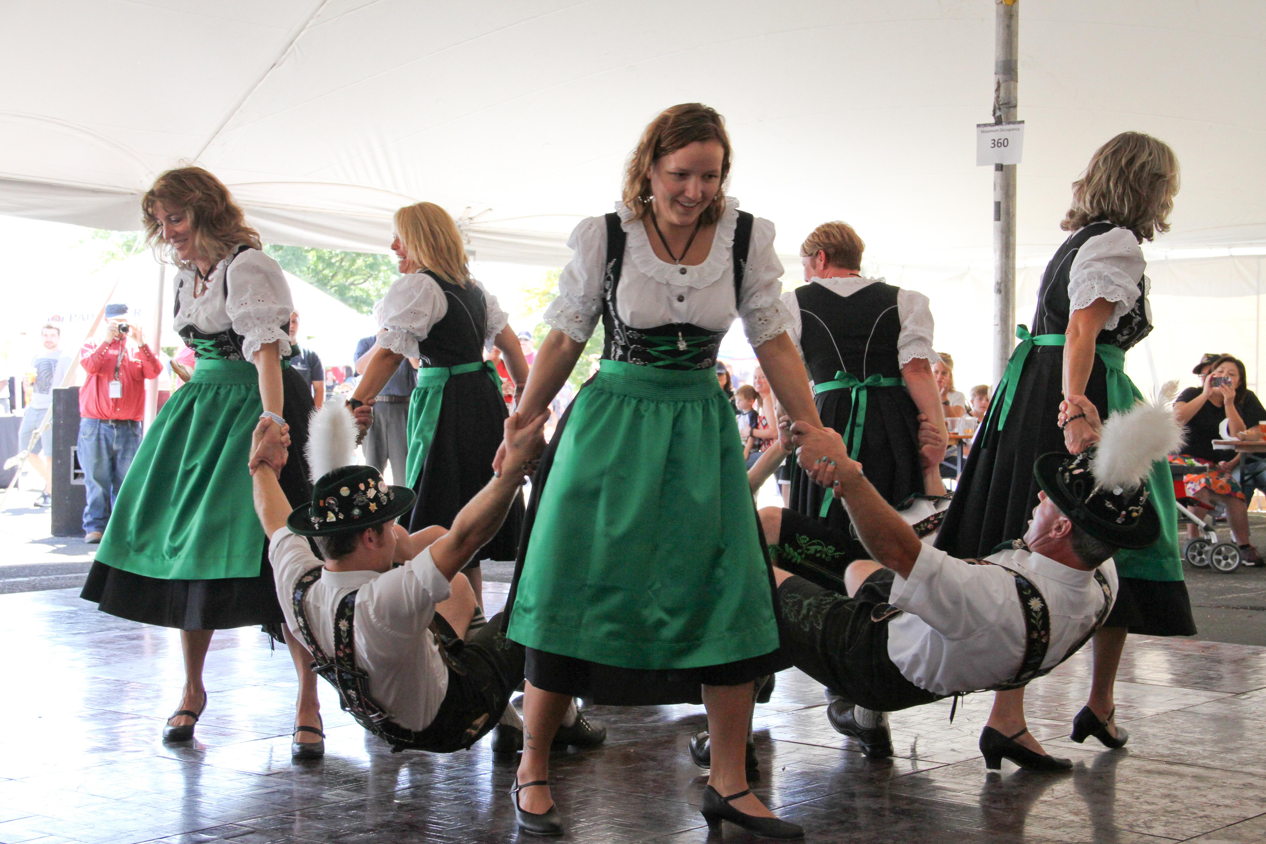Ladies dancing, men prancing!